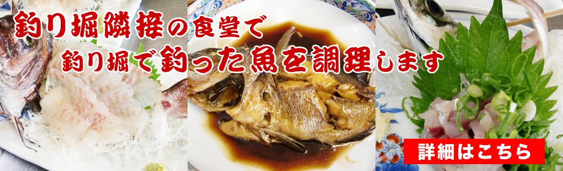 釣った魚を料理します